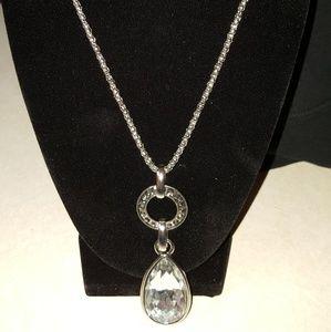 Silver Rhinestone Necklace